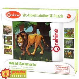 Puzzle sześcienne klocki- Dzikie zwierzęta ONSHINE