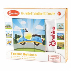 Puzzle sześcienne klocki- Pojazdy ONSHINE