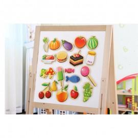 Drewniane Magnesy Owoce Warzywa w skrzynce ONSHINE