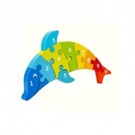 Układanka puzzle przestrzenne delfin cyfry ONSHINE