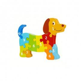 Układanka puzzle przestrzenne pies cyfry ONSHINE