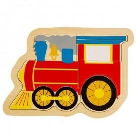 Układanka puzzle drewniane lokomotywa ONSHINE
