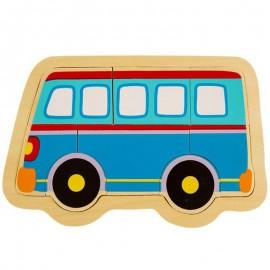 Układanka puzzle drewniane autobus ONSHINE