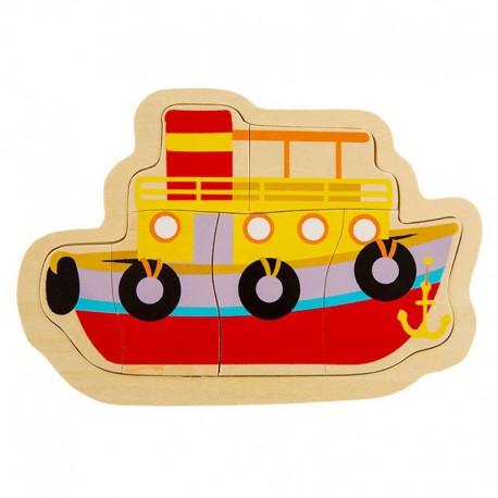 Układanka puzzle drewniane statek ONSHINE
