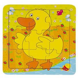 Układanka puzzle drewniane kaczka ONSHINE