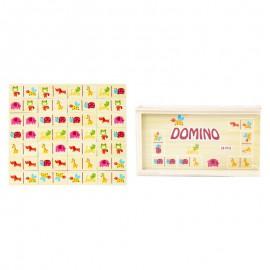 Domino drewniane dzikie zwierzęta Onshine