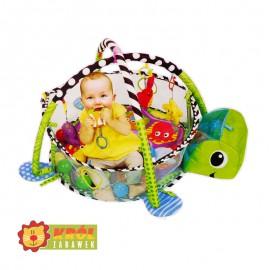 Mata edukacyjna kojec z piłeczkami 3w1