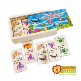 Drewniane Domino Obrazkowe Zwierzęta Morskie