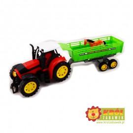 Traktor z przyczepą, napęd frykcyjny