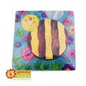 Drewniane puzzle - pszczółka
