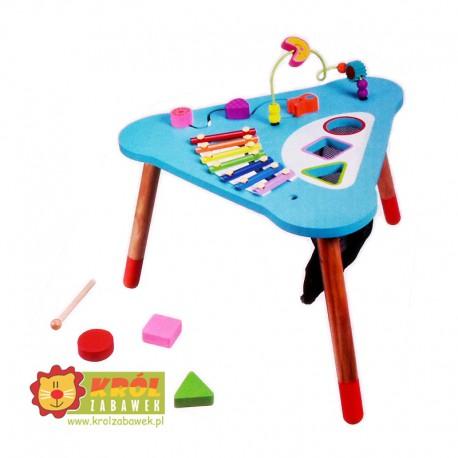 Duży drewniany stół edukacyjny