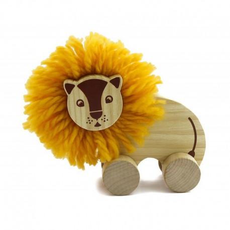 Drewniany lew pomponik - zrób to sam