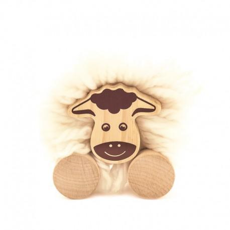 Drewniana owca pomponik - zrób to sam