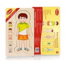Puzzle anatomia ludzkie ciało chłopiec ONSHINE