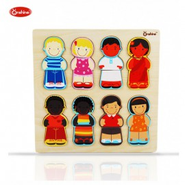 Puzzle kształty kolory skóry - tolerancja ONSHINE