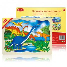 Puzzle drewniane 24 szt. dinozaury ONSHINE