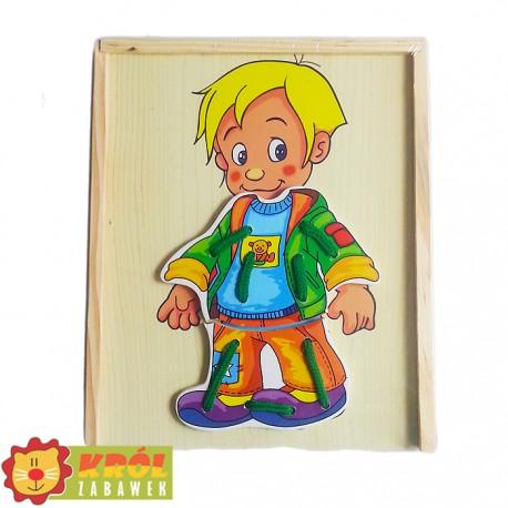 Ubieranka drewniana chłopiec