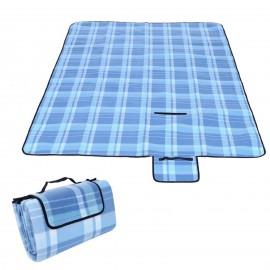Mata piknikowa 200x200 niebieska krata
