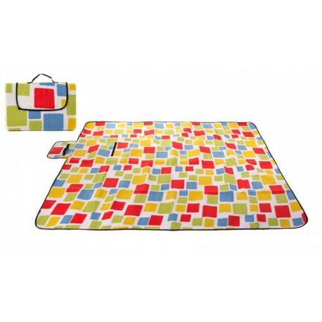 Mata piknikowa 150x200 pomarańczowe kwadraty