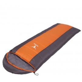 Śpiwór pomarańczowo-szary