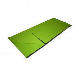 Śpiwór polarowy koc rozkładany zielony