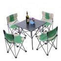 Zestaw turystyczny kampingowy stół i 4 krzesła