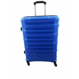 Walizka średnia 4 kółka podróżna niebieska