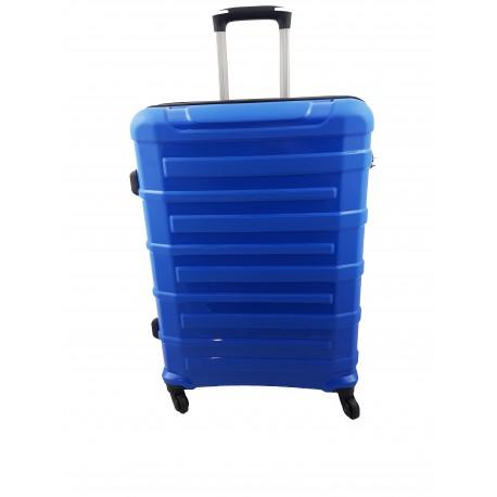 Walizka średnia 4 kółka podróżna kabinowa niebieska