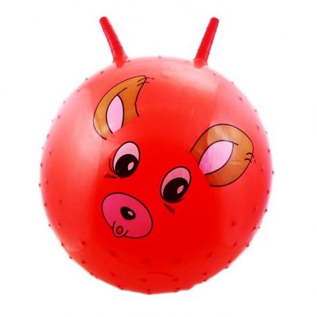 Piłka z wypustkami do skakania czerwona pies