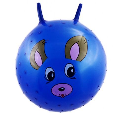 Piłka z wypustkami do skakania niebieska pies