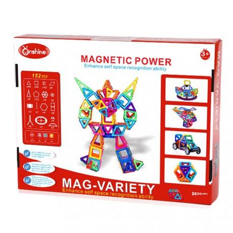 Klocki magnetyczne Onshine 152szt. + karty