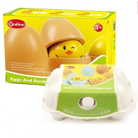 Drewniane jajka do zabawy ONSHINE
