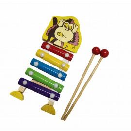 Małe Cymbałki Drewniane - małpka