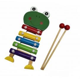 Małe Cymbałki Drewniane - żaba