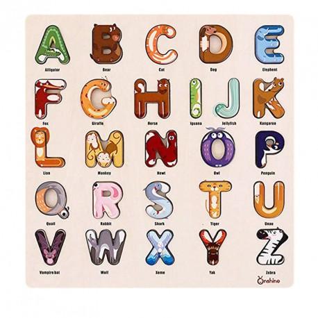 Alfabet dzikie zwierzęta nauka angielskiego ONSHINE