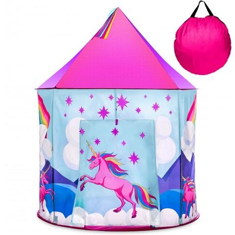 Namiot dla dzieci pałac różowy jednorożec