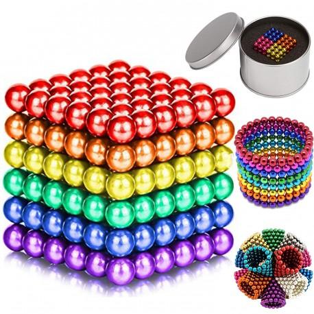 Kolorowe kulki klocki magnetyczne 216 szt 5mm