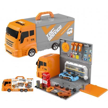 DUŻY warsztat dla dzieci narzędzia ciężarówka