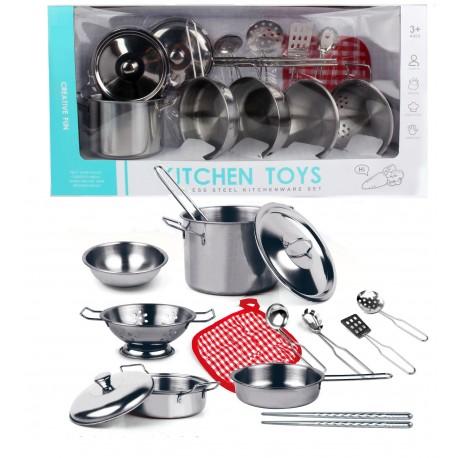 Duże garnki metalowe dla dzieci naczynia