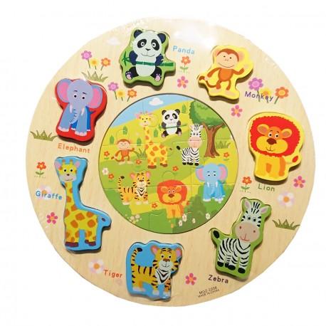 Puzzle kształty okrągłe dżungla