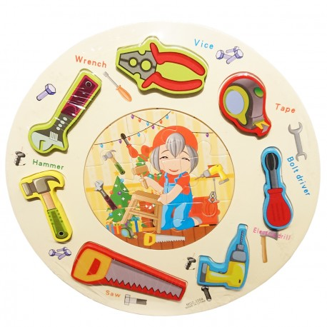 Puzzle kształty okrągłe narzędzia