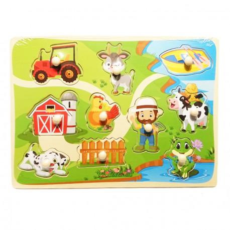 Puzzle kształty z uchwytami farma