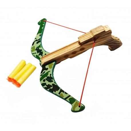 Kusza drewniana ze strzałkami zielona
