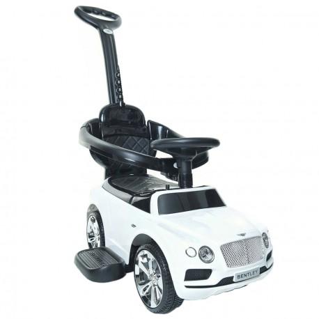 Bentley jeździk pchacz z dźwiękiem biały