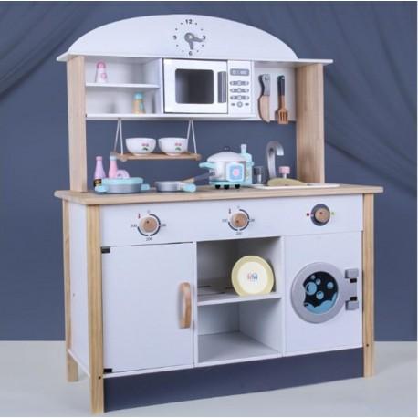 Kuchnia drewniana z pralką