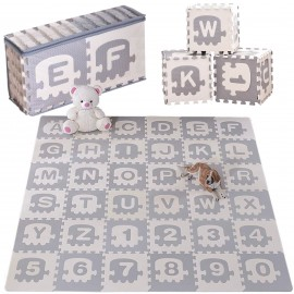 Mata piankowa alfabet puzzle EVA gruba 180x180 cm