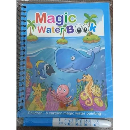 KSIĄZECZKA Z PISAKIEM WODNYM zwierzęta wodne19x15cm